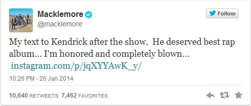macklemore tweet